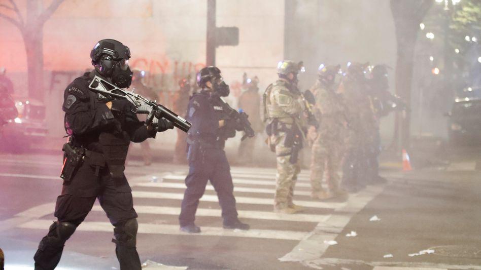 Bundespolizisten in Portland: Hass der Bevölkerung
