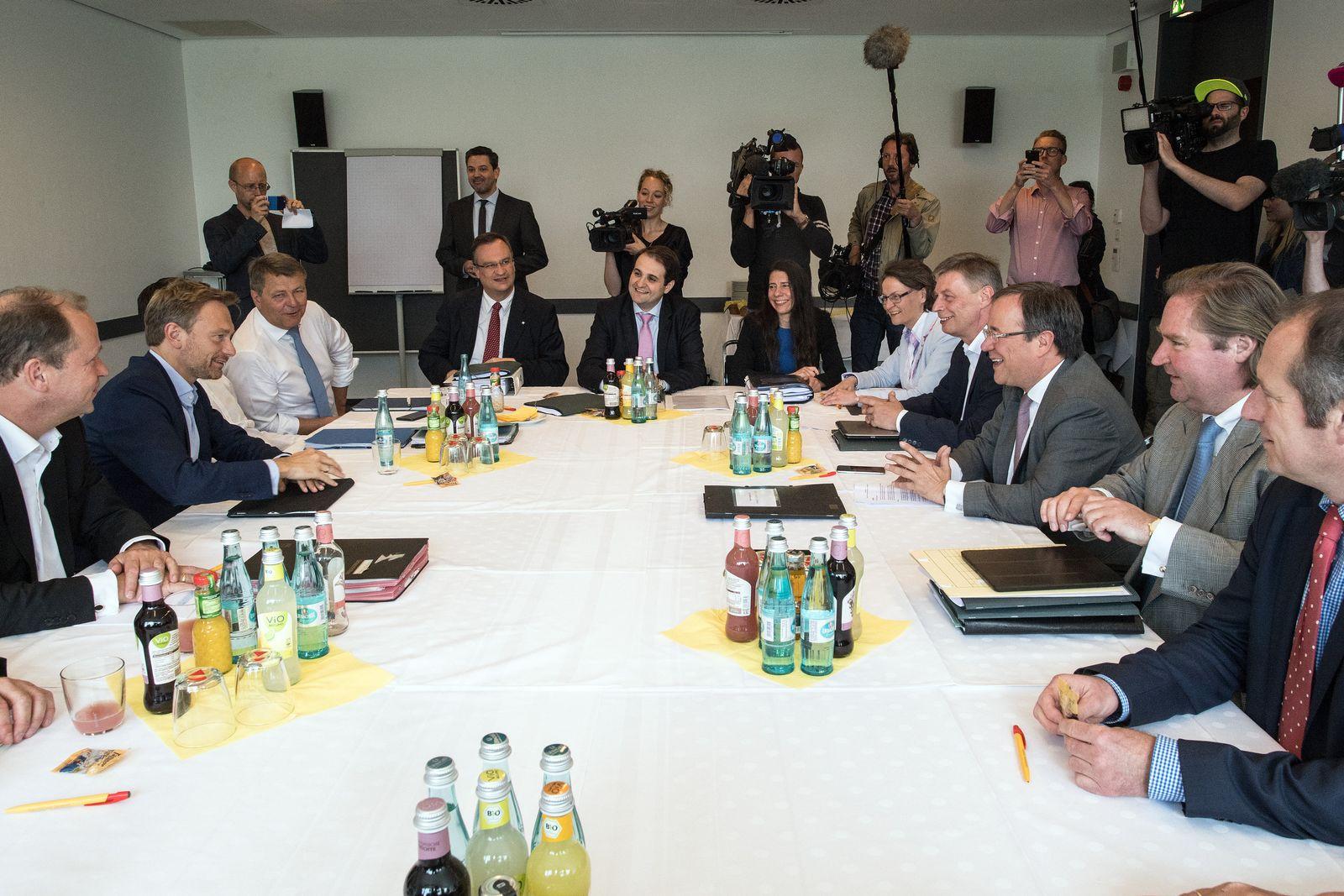 7. Koalitionsverhandlungsrunde zwischen CDU und FDP in NRW