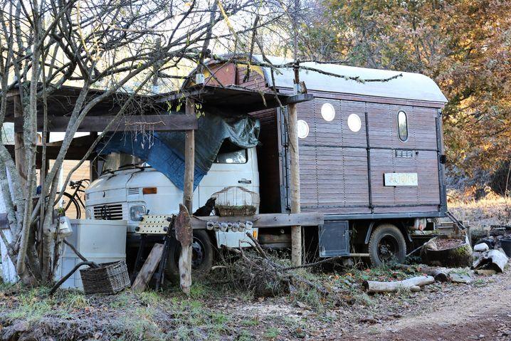 Der Wohnwagen wird gelegentlich an Gäste vermietet