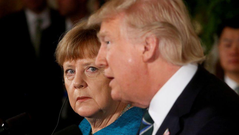 "US-Präsident Trump, Kanzlerin Merkel in Washington im März 2017: ""Perverser Respekt"""