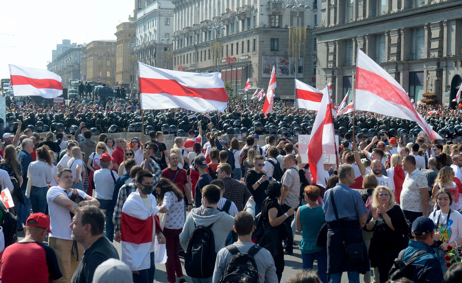 Belarus opposition rally against results of president elections, Minsk, Balarus - 30 Aug 2020