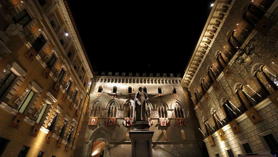 Monte dei Paschi Gebäude in Siena (Archiv)