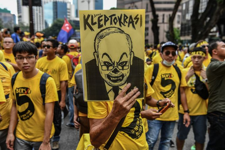 Proteste gegen Ministerpräsident Najib in Malaysia