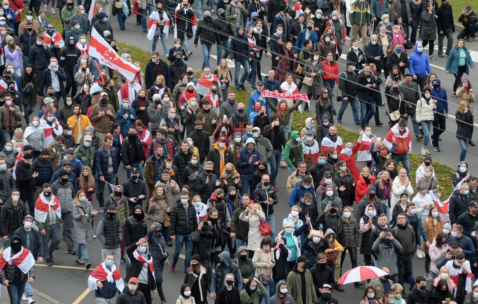 Protests against the presidential election results continue in Minsk, Belarus - 25 Oct 2020