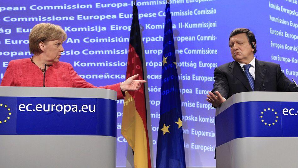 """Kanzlerin Merkel, EU-Kommissionschef Barroso: """"Wir müssen Vertrauen wiederherstellen"""""""
