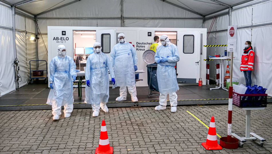 Corona-Testzentrum in Hannover:»Ausgeschlossen, dass sie flächendeckend einsatzbereit sind«