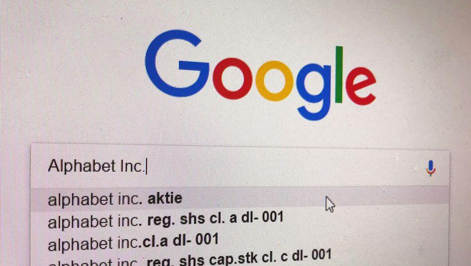 Die Google-Suchmaschine sorgt für hohe Werbeerlöse