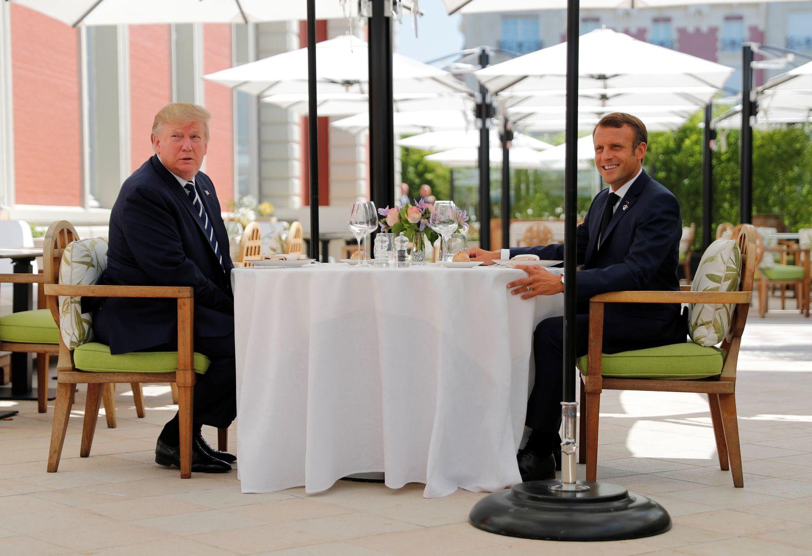 G7/ Frankreich/ Trump/ Macron