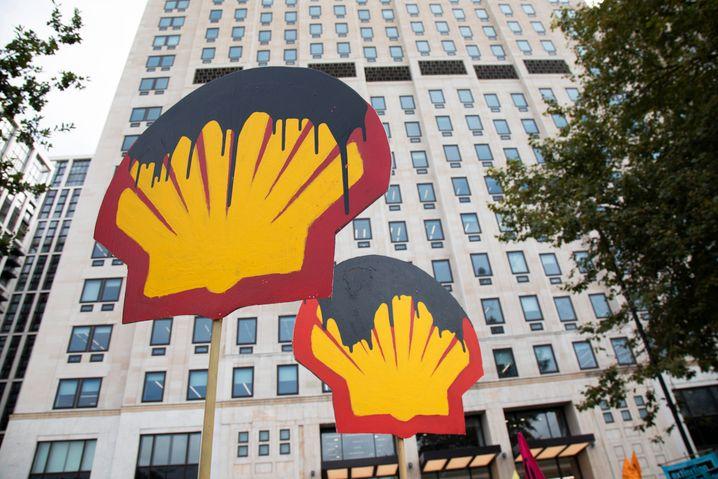 Protest der Gruppe Extinction Rebellion gegen den Ölkonzern Shell im September 2020