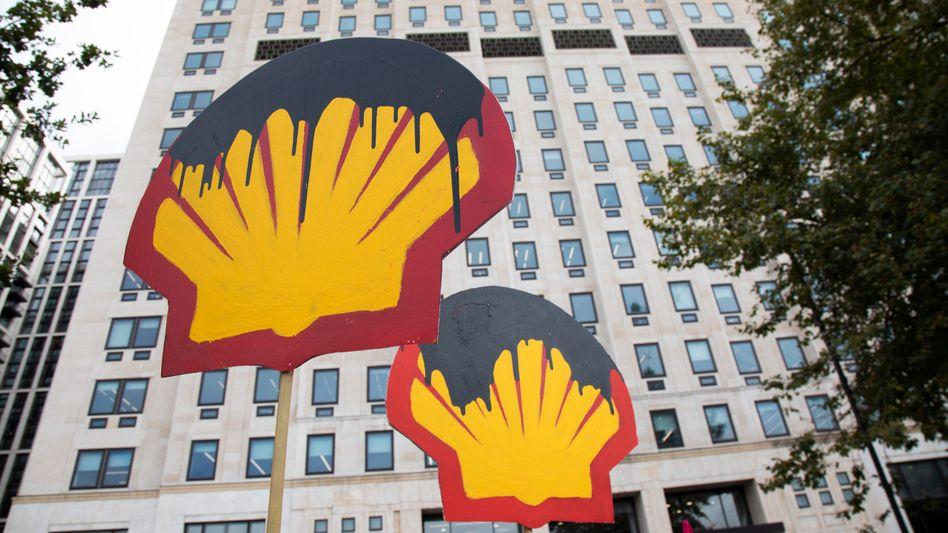 Der Ölkonzern Shell ist nach Ansicht von Umweltschutzgruppen für die Klimakrise mitverantwortlich.