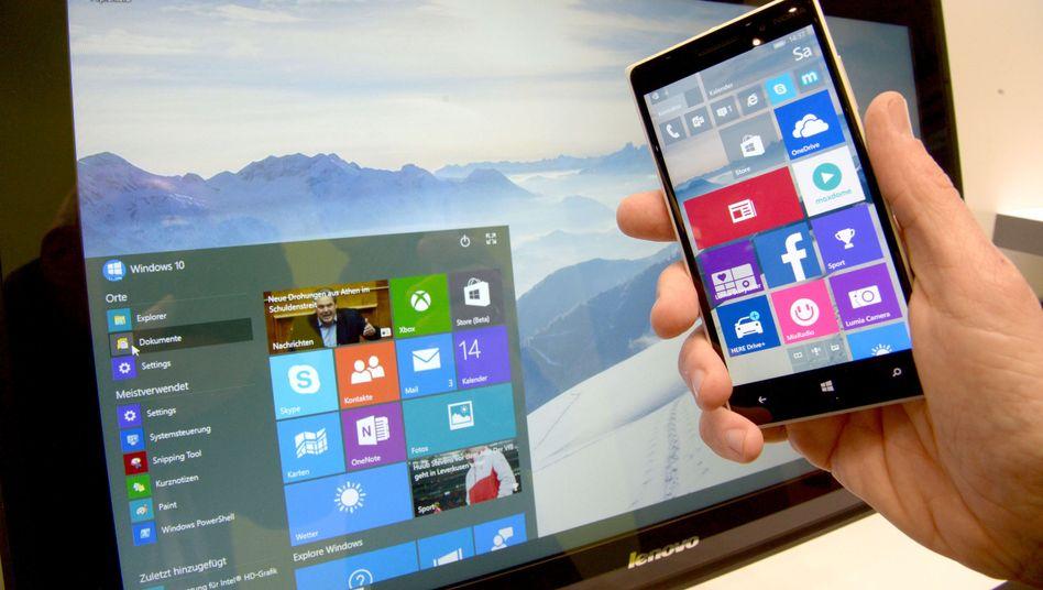 Windows 10 für Smartphones und PC auf der Cebit: Einheitliche Plattform für alle Geräte