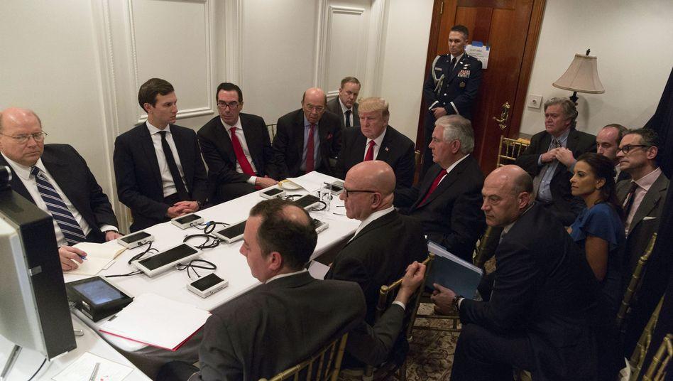 Präsident Trump nach US-Raketenaufgriff in Syrien