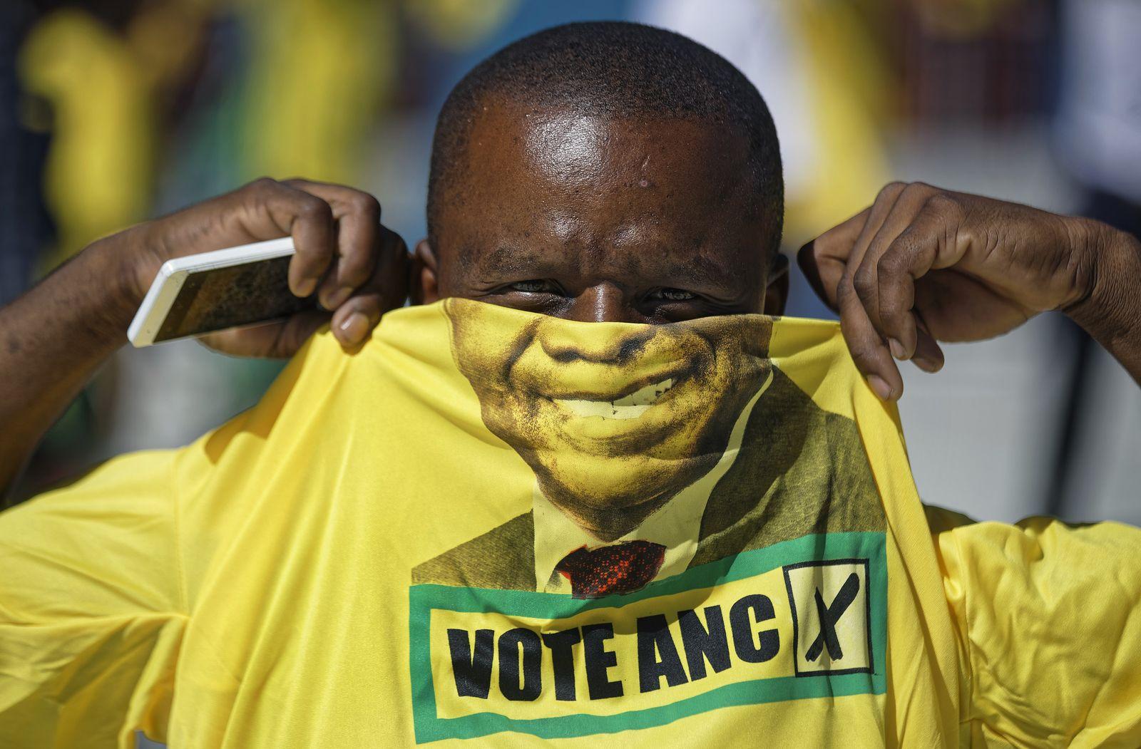 Südafrika Wahlen / ANC-Anhänger