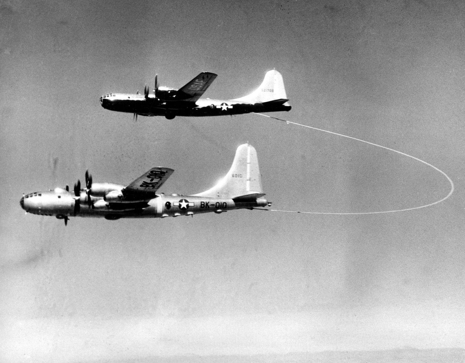 U.S. B29 TANKER REFUELS B50