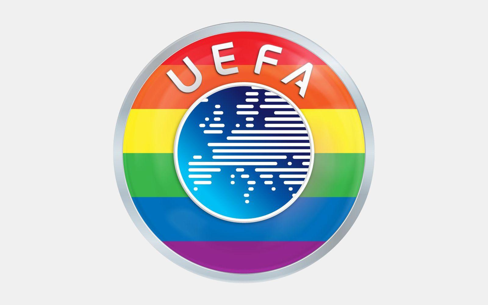 UEFA Logo Regenbogen