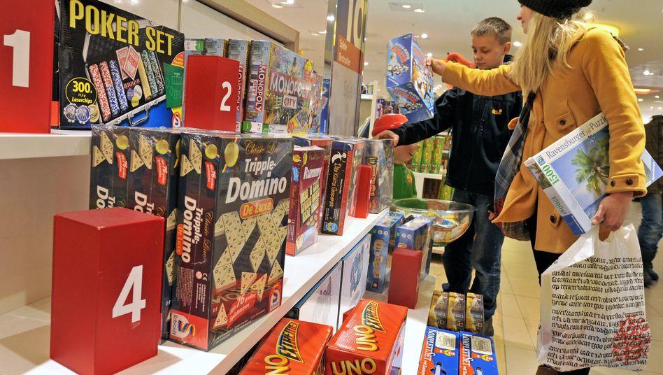 Spielwarenregal: Wird das Kleingeld knapp?