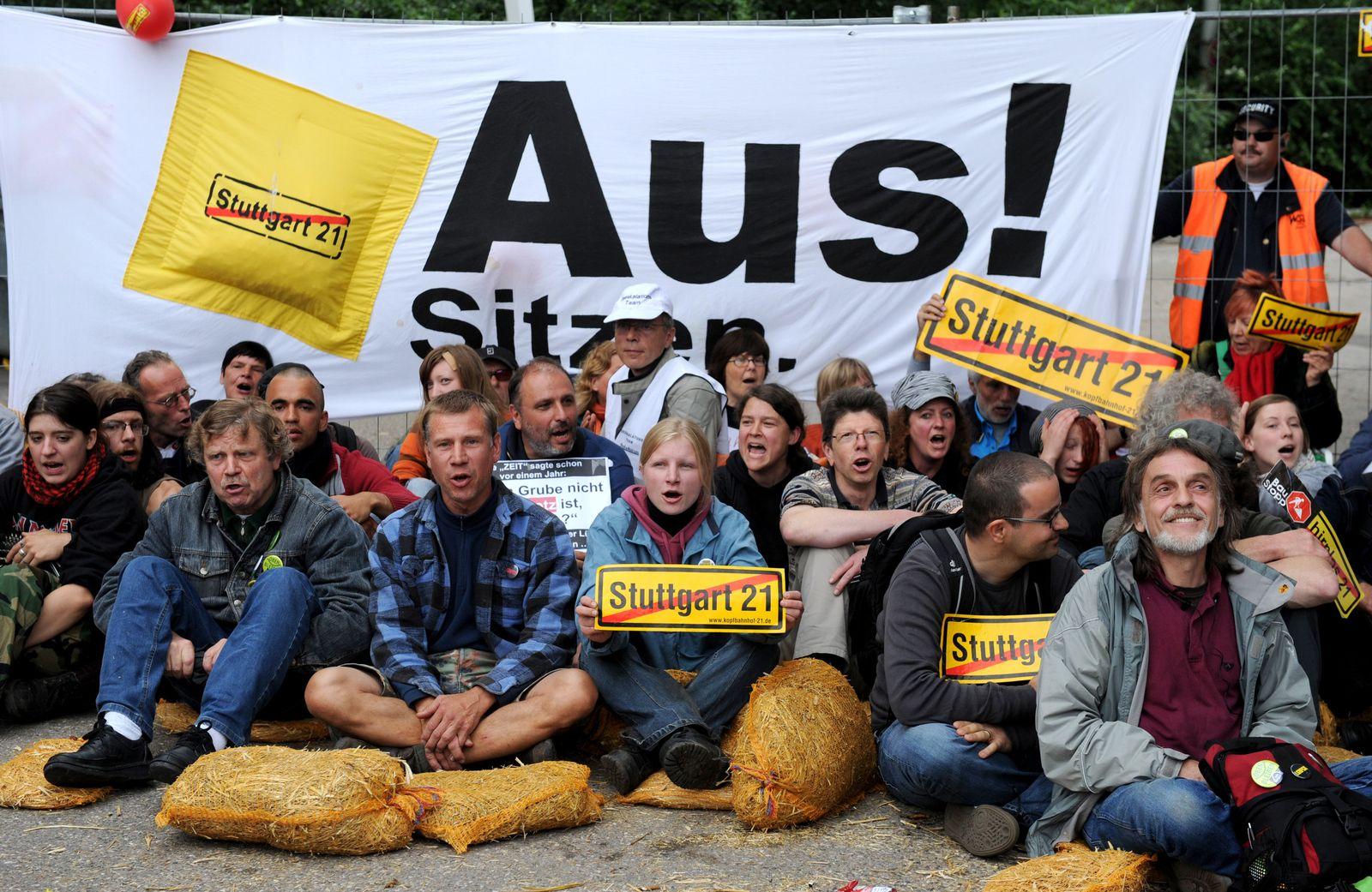Stuttgart 21 Proteste Gegner