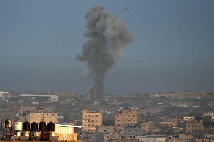 Rauch im Gazastreifen in der vergangenen Woche