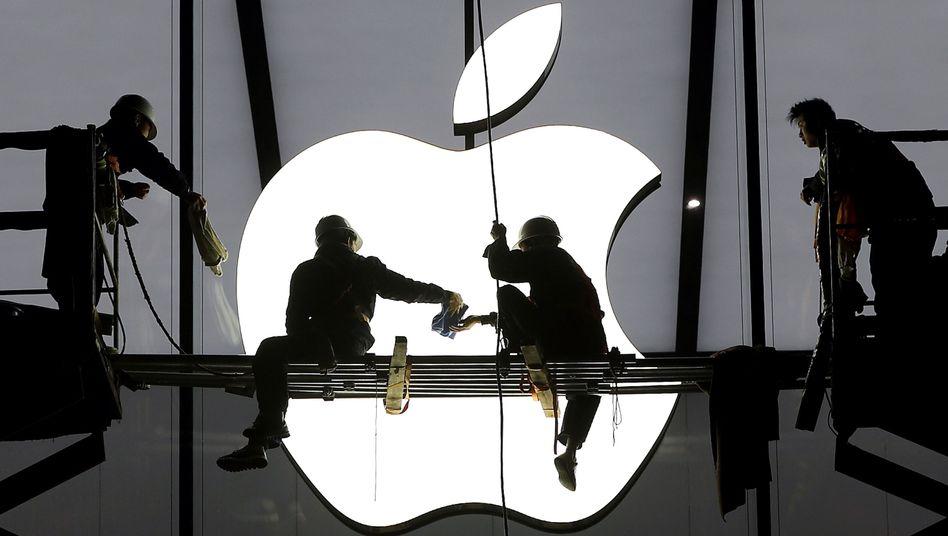 """Apple-Logo (in China): """"Kommandozentrale für globale Netzwerke"""" in den USA im Bau"""