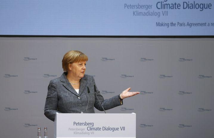 Angela Merkel beim Petersberger Klimadialog