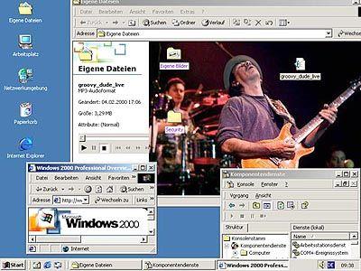 Auch wenn Windows 2000 die meisten Schlagzeilen macht: Das Microsoft-Betriebssystem ist nicht die einzige Software, die auf der Cebit zu sehen ist