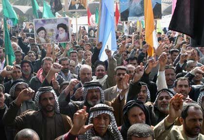 """Demonstranten in Kerbala: US-Truppen sprechen von """"unglücklichem Vorfall"""""""