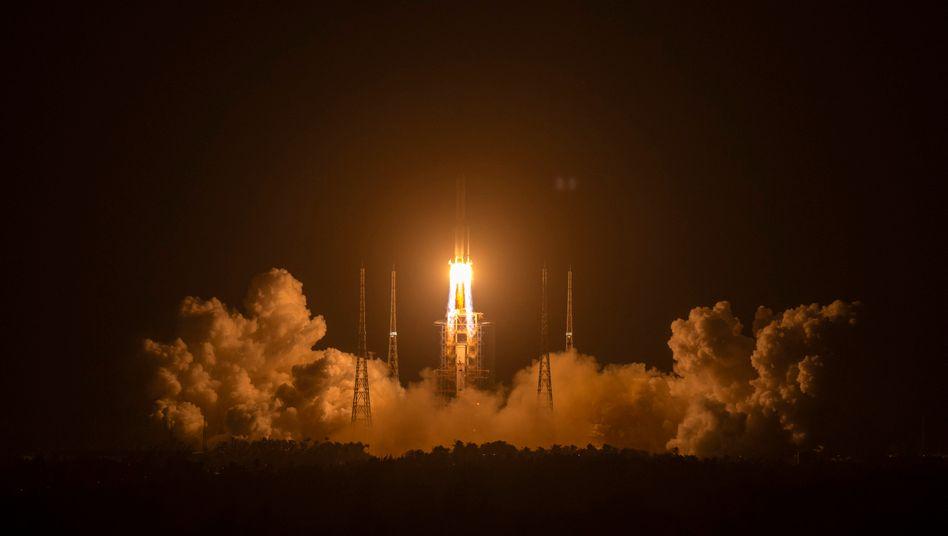 Raketenstart in Wenchang: Historische Mission