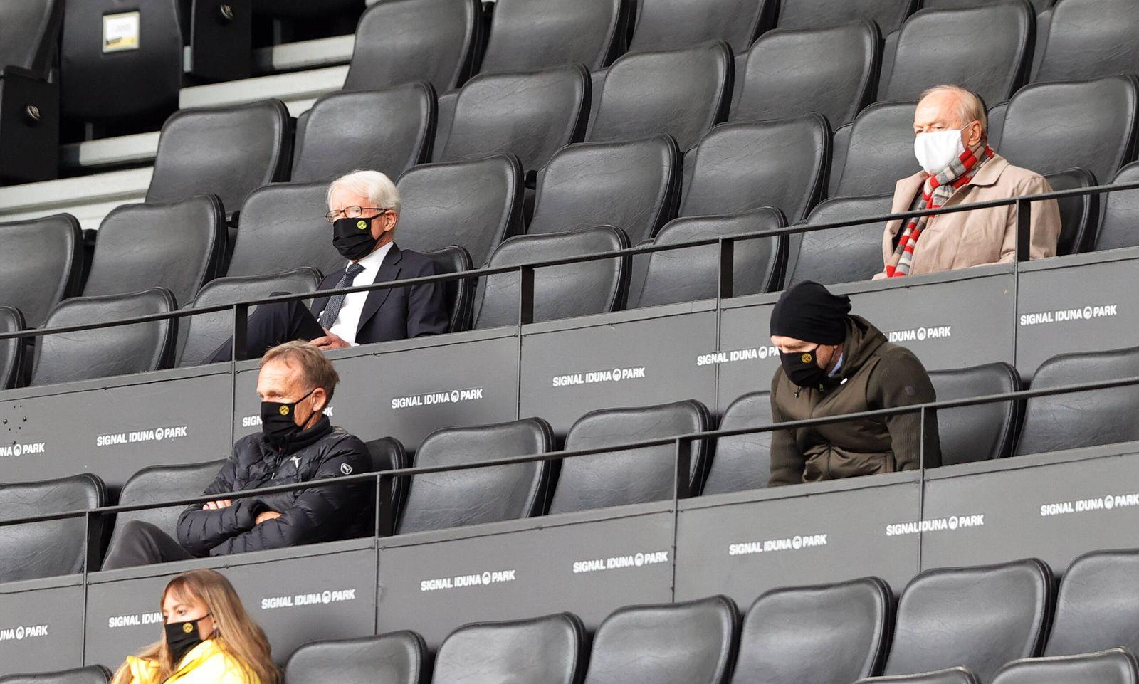 Borussia Dortmund - FC Schalke 04 BVB Geschäftsführer Geschäftsführung Hans-Joachim Aki Watzke , BVB Externer Berater ,