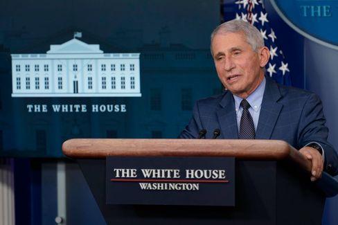 Anthony Fauci bei der Pressekonferenz im Weißen Haus