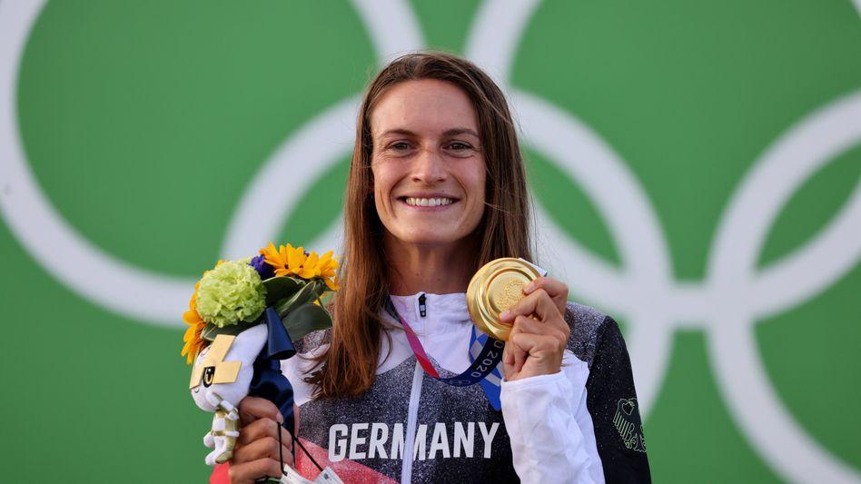 Ricarda Funk holte die erste Goldmedaille für Deutschland
