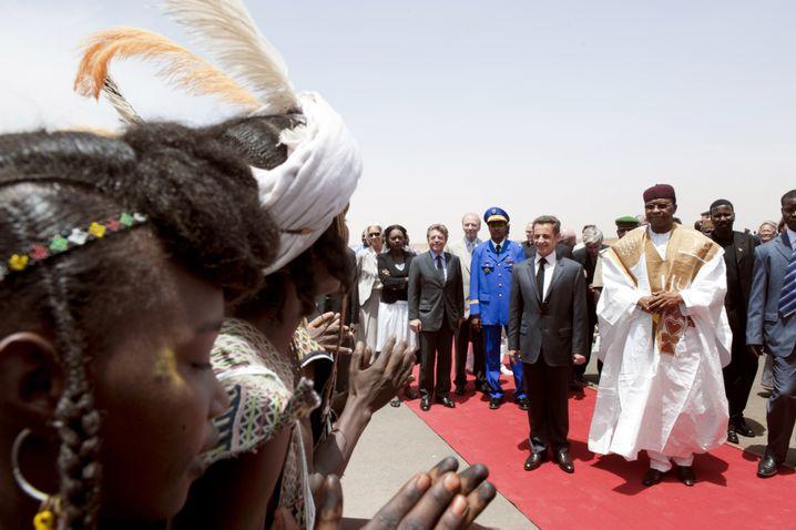 Frankreichs Präsident Sarkozy (bei einem Besuch im Niger 2009)