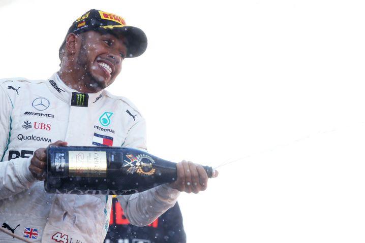Jubelnder Lewis Hamilton