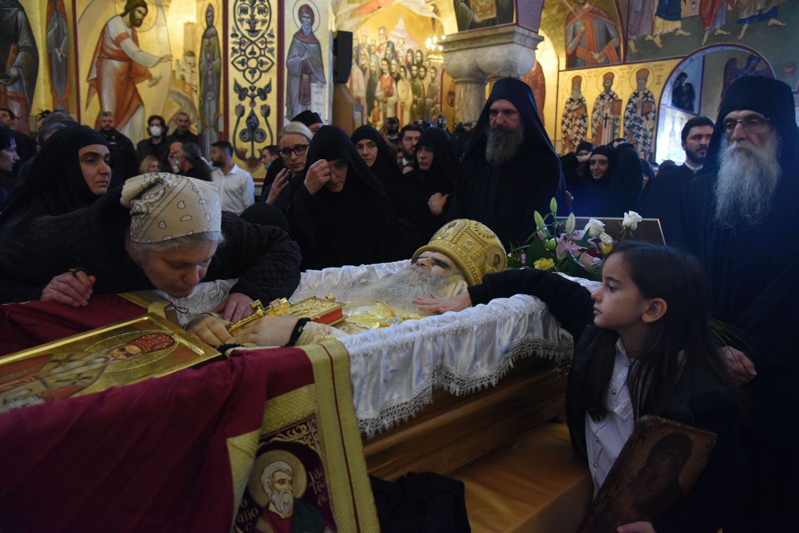 Funeral of Serbian Orthodox Church Metropolitan bishop of Montenegro, Metropolitan Amfilohije, Podgorica - 01 Nov 2020