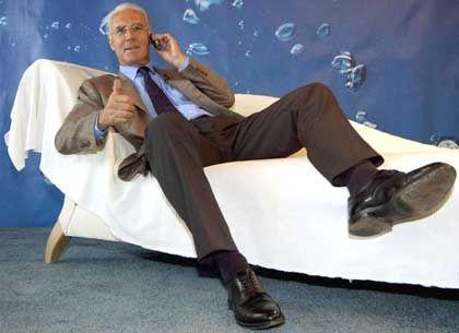 Gewollt ausgenutzt: O2-Werbefigur Beckenbauer