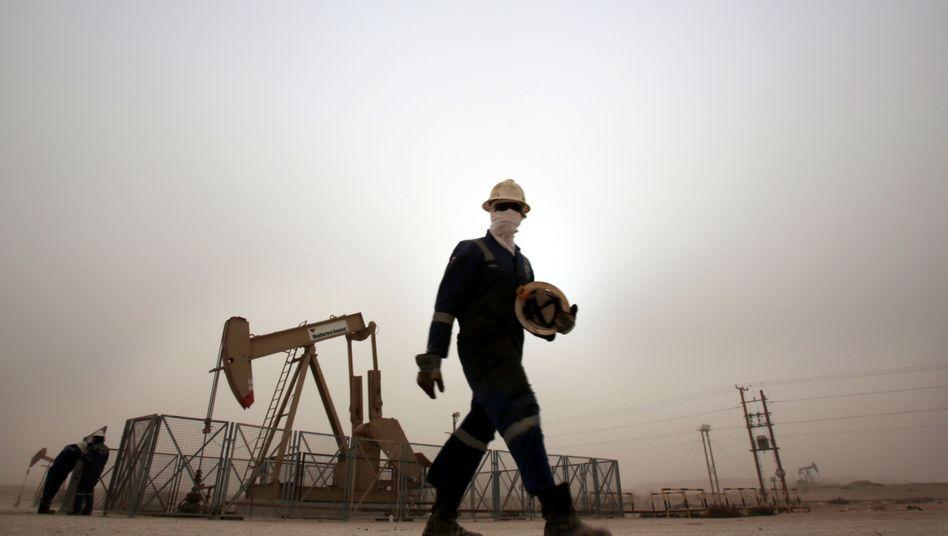Ölarbeiter in Bahrain