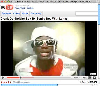 """Nummer eins: Soulja Boy mit """"Crank That"""""""