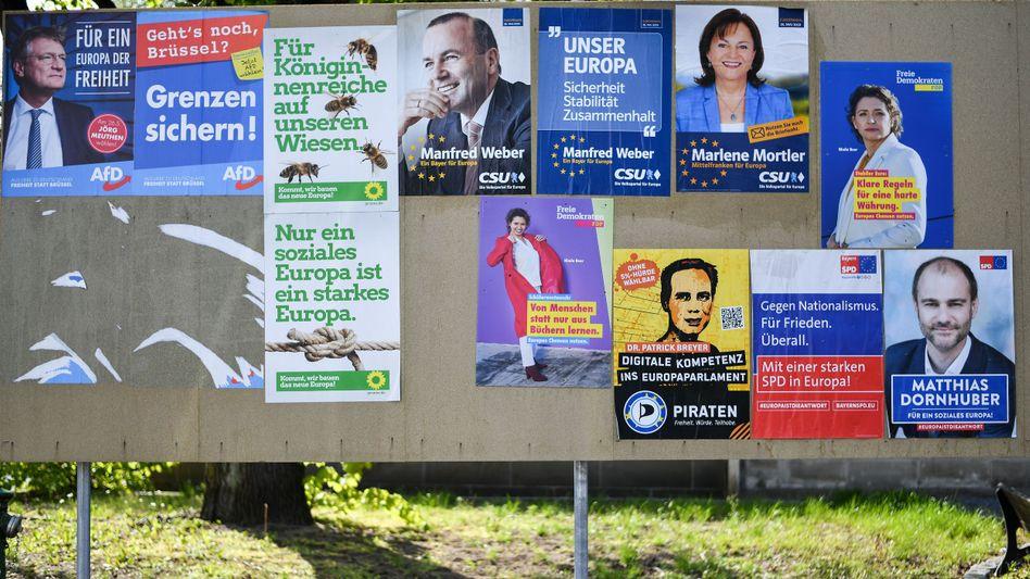 Wahlplakate zur Europawahl