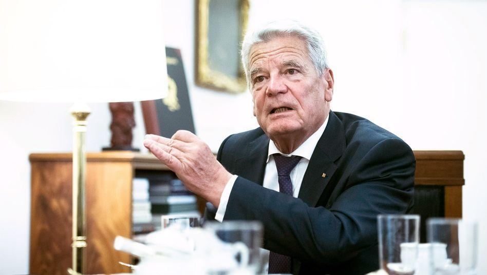 Bundespräsident Gauck im SPIEGEL-Interview