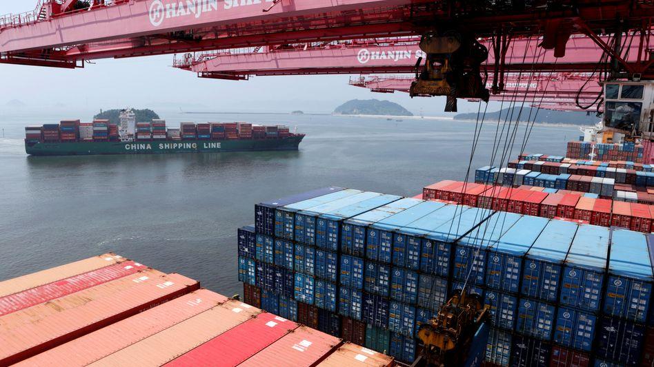 Heimathafen von Hanjin in Busan