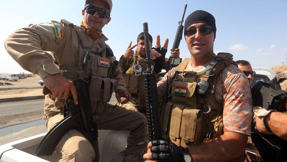 Kurdische Peschmerga-Kämpfer bei Mossul: Votum im Bundestag am Montag
