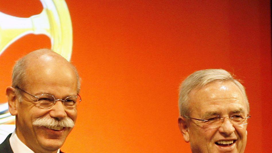 Daimler-Boss Zetsche, VW-Chef Winterkorn: Gewinner unter sich