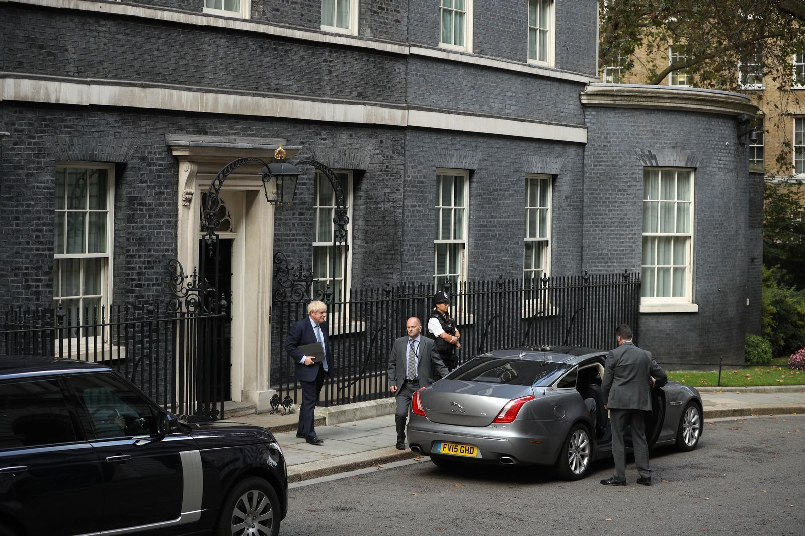 Johnson vor Parlamentsdebatte Downing Street