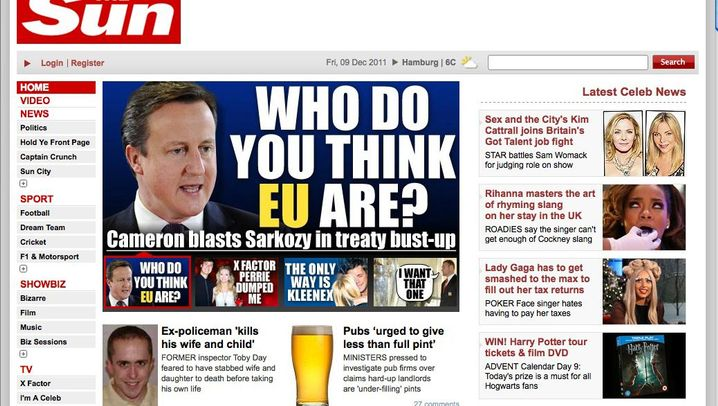 Photo Gallery: British Press Reacts to Cameron's Veto