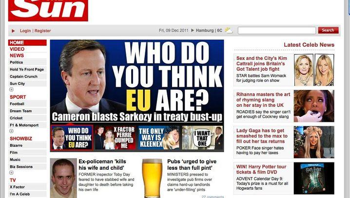 Photo Gallery: British Press Reacts to Cameron's Veto