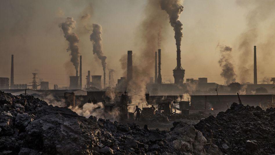 Stahlfabrik in der Mongolei