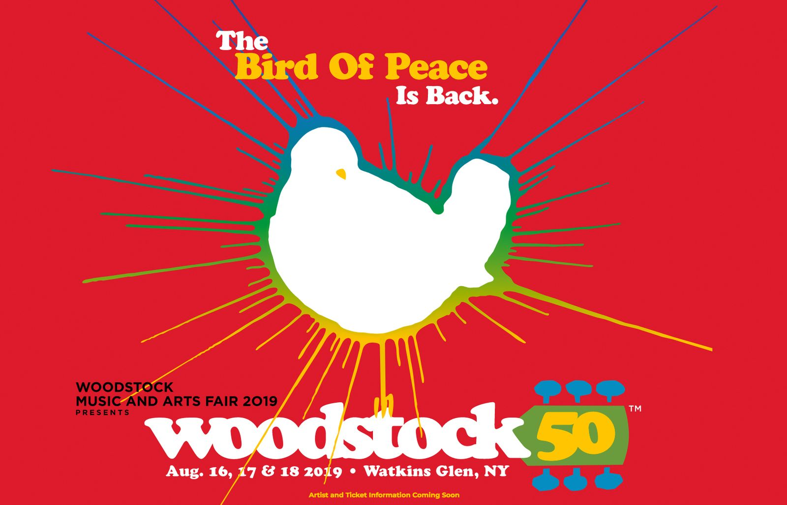 EINMALIGE VERWENDUNG Woodstock 2019 Logo