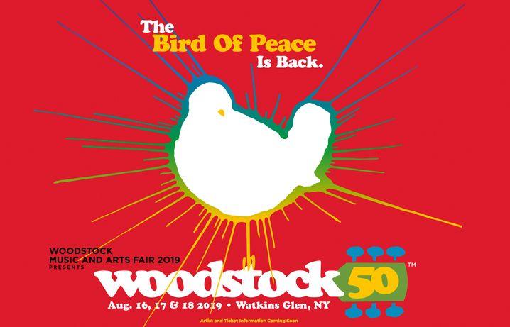 """Offizielles Logo von """"Woodstock 50"""""""