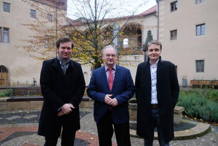 CDU-Politiker Haseloff, SPIEGEL-Redakteure Fischer, Lehmann