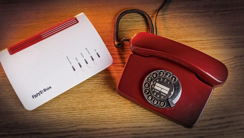 Wählscheibentelefon und Fritzbox