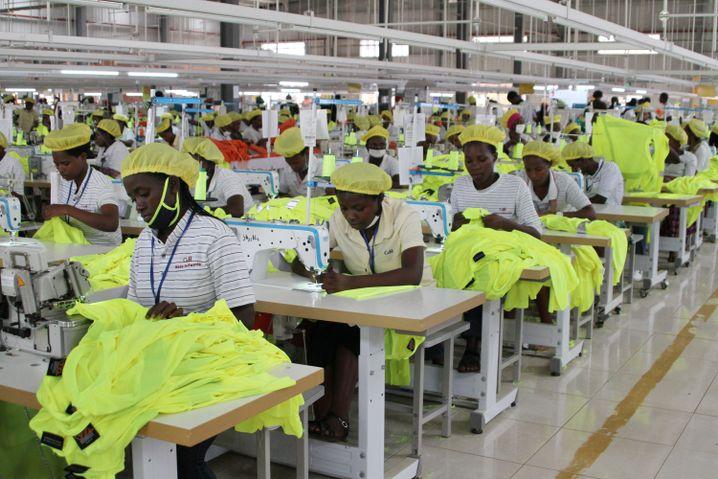 Chinesische Textilproduktion in Ruanda für den US-Markt